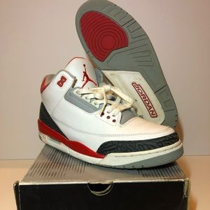 "2006 Jordan 3 ""fire red"" size 10"